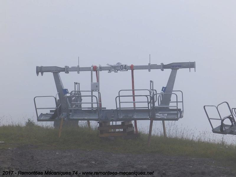 Construction télésiège débrayable 6 places (TSD6) de l'Épaule - Chantiers été 2017 002810