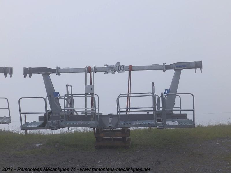 Construction télésiège débrayable 6 places (TSD6) de l'Épaule - Chantiers été 2017 003110