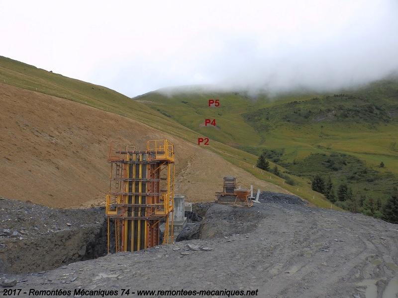 Construction télésiège débrayable 6 places (TSD6) de l'Épaule - Chantiers été 2017 003410