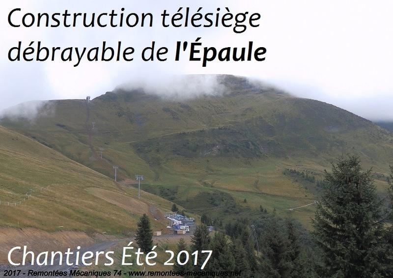 Construction télésiège débrayable 6 places (TSD6) de l'Épaule - Chantiers été 2017 460_110