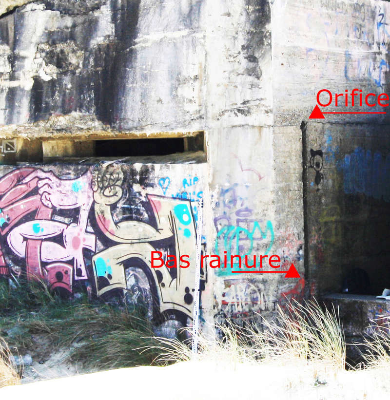 Canalisation montante et descendante dans bunker Myster10