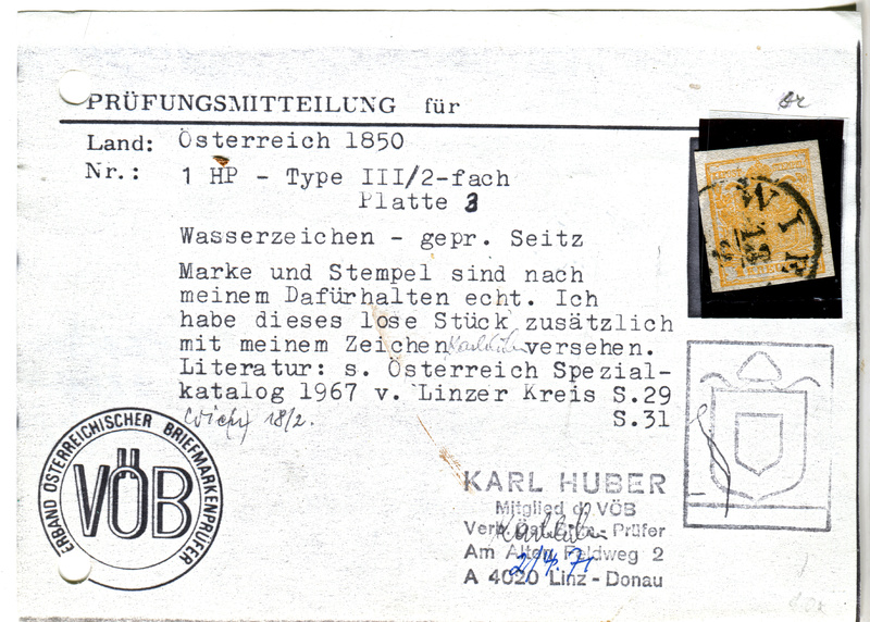 Die erste Österreichische Ausgabe 1850 - Seite 13 Z07310