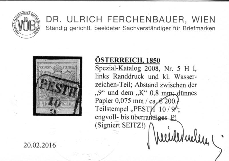 Die erste Österreichische Ausgabe 1850 - Seite 14 Z08410