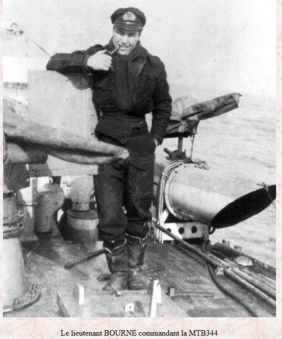 Le MTB 344 et son commandant le Lt Bourne Bounre10