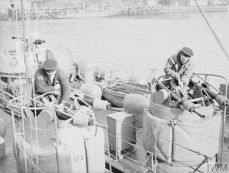 A bord des Motor Gun Boats Mgb910