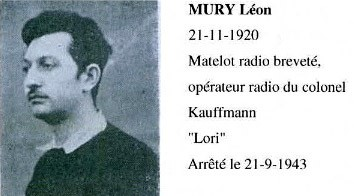 Léon Mury, Marin et Espion.... Mury10