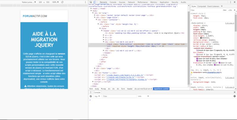 Mise à jour jQuery : passage prochain de la version 1.7 à la 3.2 sur les forums Direct18