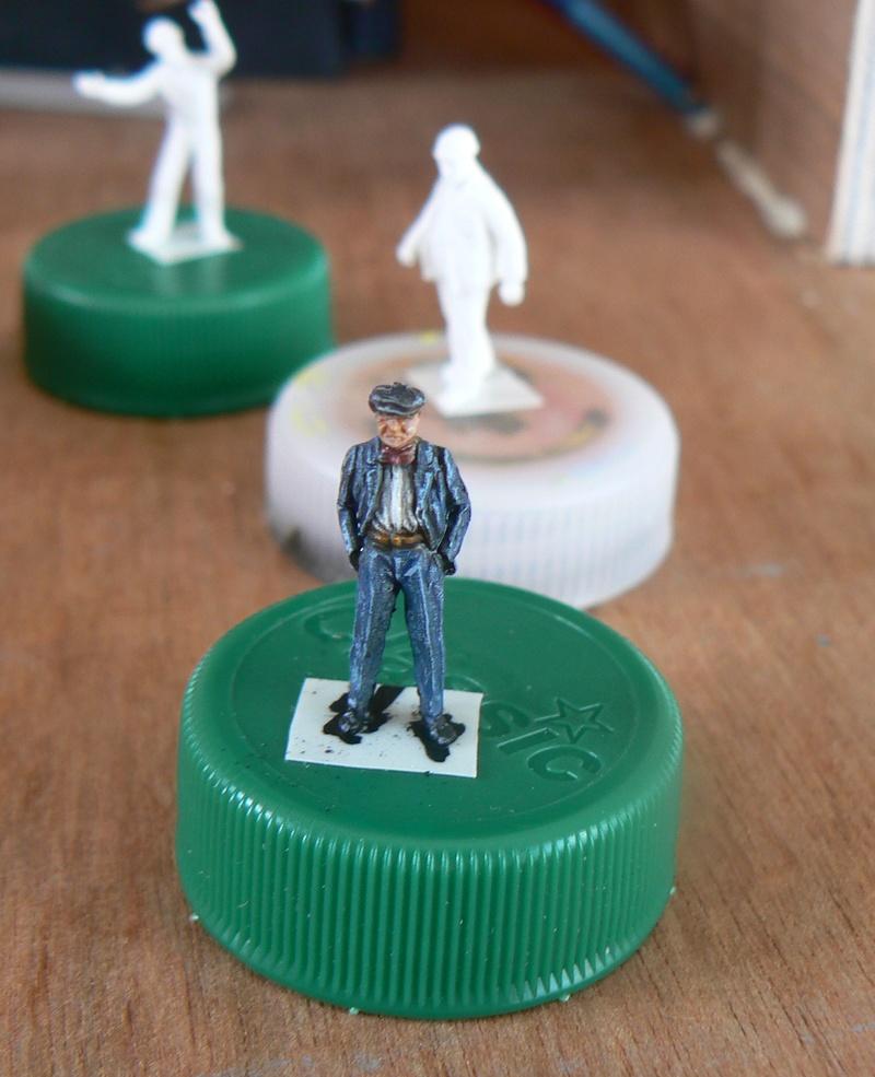 "peinture figurines - Peinture de figurines H0 ""au blanc"" Papy210"