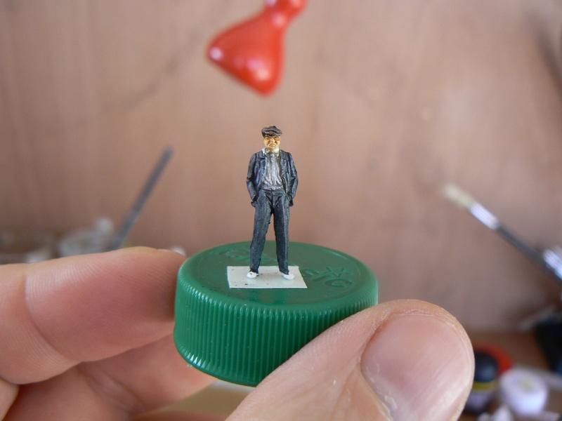 "peinture figurines - Peinture de figurines H0 ""au blanc"" Papy_110"