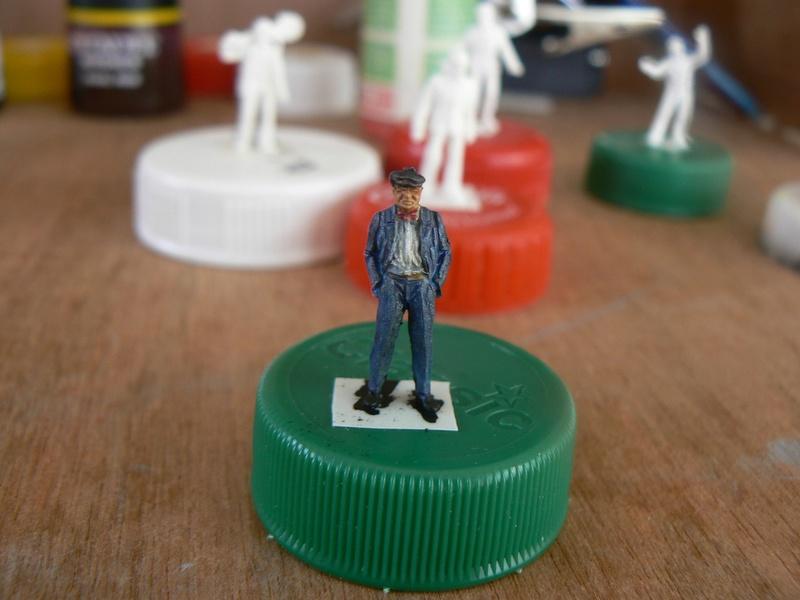 """peinture figurines - Peinture de figurines H0 """"au blanc"""" Papy_a10"""