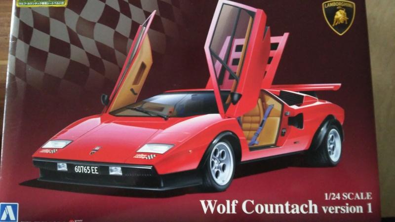 Aoshima 1:24 Lamborghini Wolf  Countach  Version 1 Img_2215