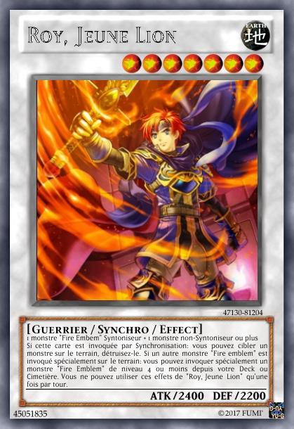 Crossover Yu-Gi-Oh/Fire Emblem Roy10