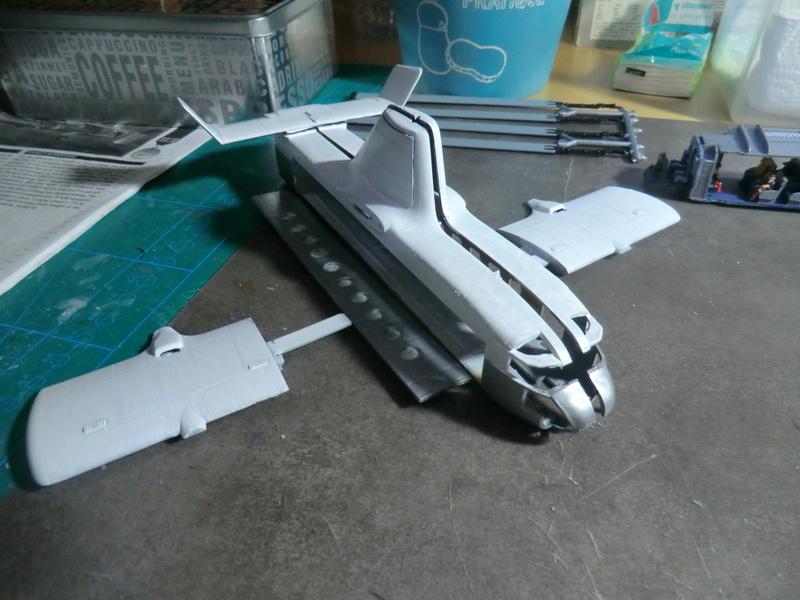 montage d'un Fairey rotodyne 1/78 Revell F-rot127