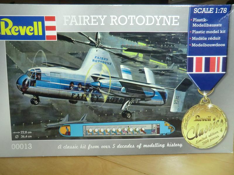 montage d'un Fairey rotodyne 1/78 Revell F-roto62