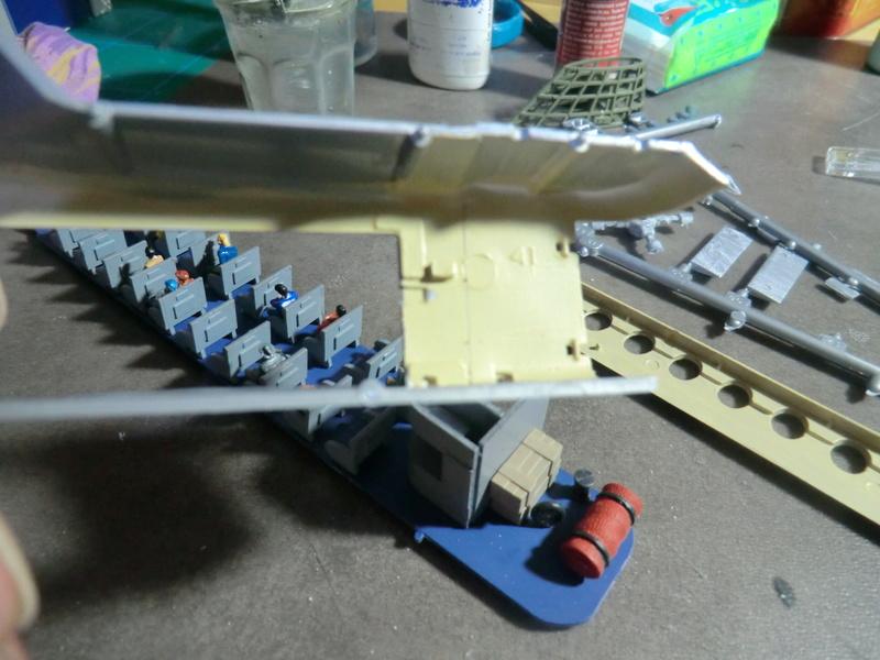 montage d'un Fairey rotodyne 1/78 Revell F-roto81