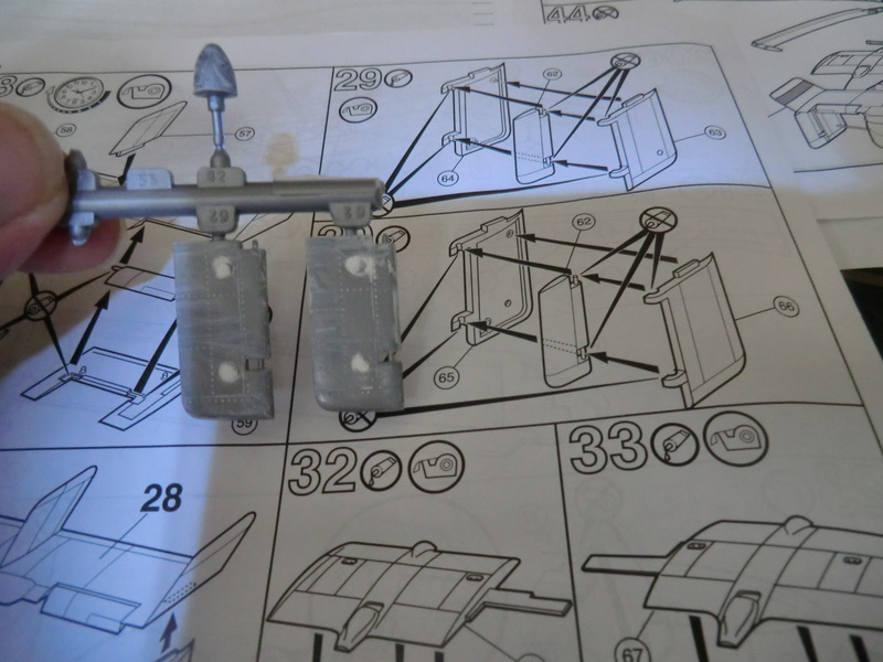 montage d'un Fairey rotodyne 1/78 Revell F-roto92