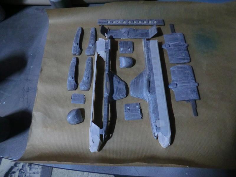 montage d'un Fairey rotodyne 1/78 Revell F-roto94