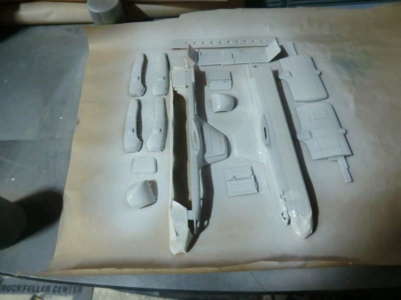 montage d'un Fairey rotodyne 1/78 Revell F-roto95