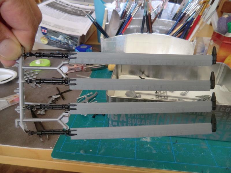montage d'un Fairey rotodyne 1/78 Revell F-roto96