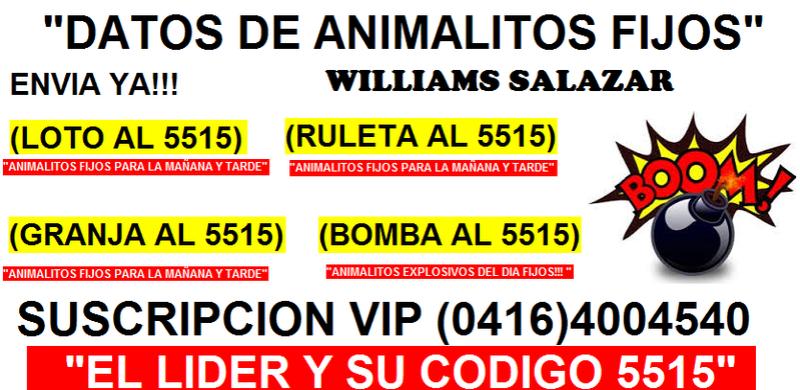 JUEVES 21-09-17 DATOS DE ANIMALITOS FIJOS Y EXPLOSIVOS Banner13