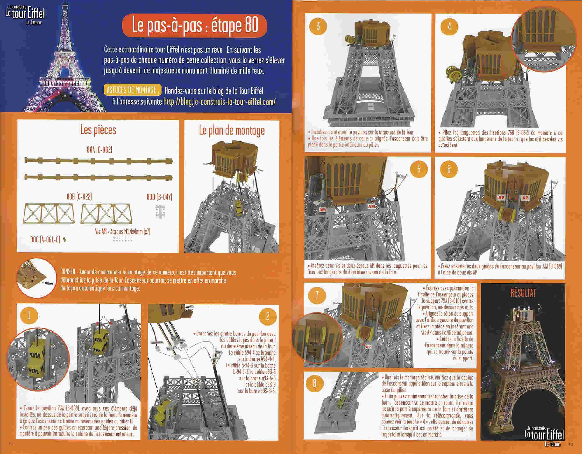 Numéro 80 - Je construis la Tour Eiffel - Le pont SNP de Bratislava 080-0210