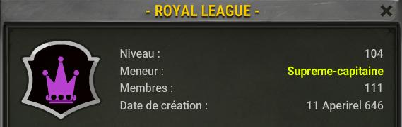 Candidature de la - Royal League -  Rl10