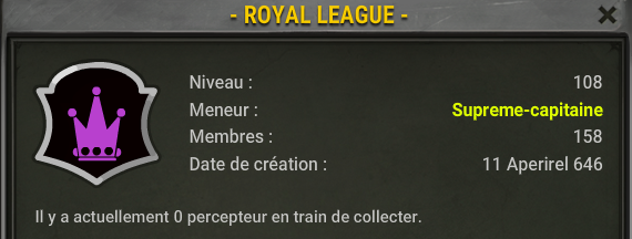 Candidature de la - Royal League -  Xd10