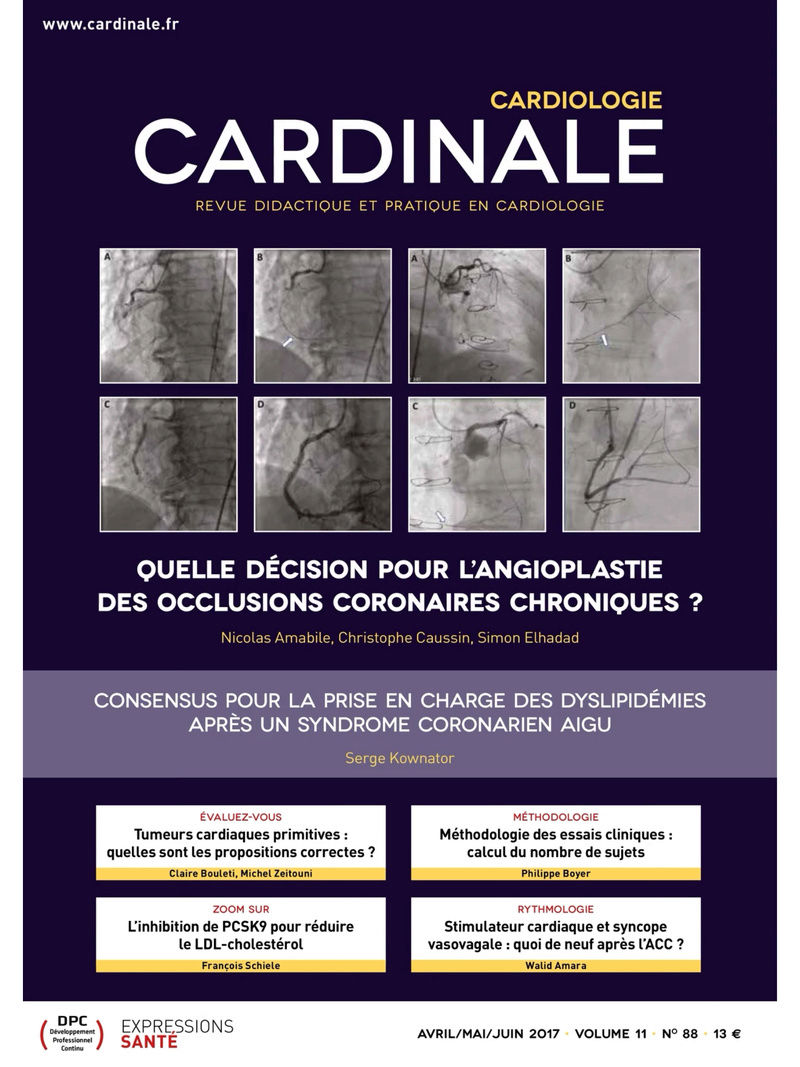 Cardiologie Cardinale N° 88 – Avril/Mai/Juin 2017 Img_1410