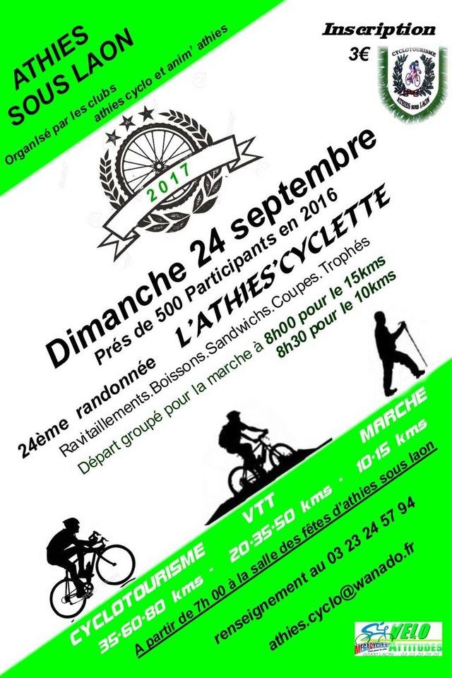 dimanche 24 septembre 2017 rando de l'athies'cyclette Athies10