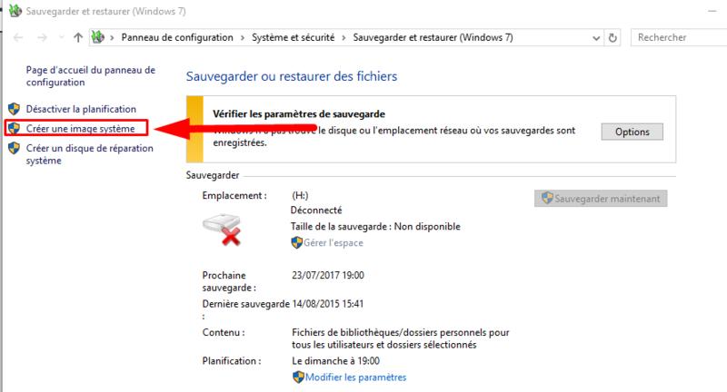 Comment créer une image système Windows 10 sans logiciel Cryy_u15