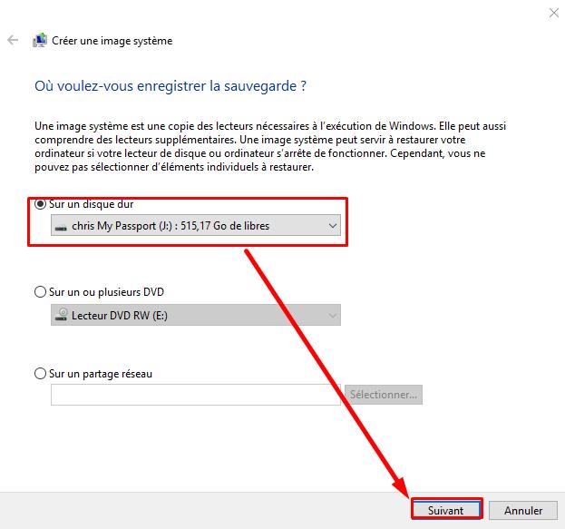 Comment créer une image système Windows 10 sans logiciel Cryy_u16