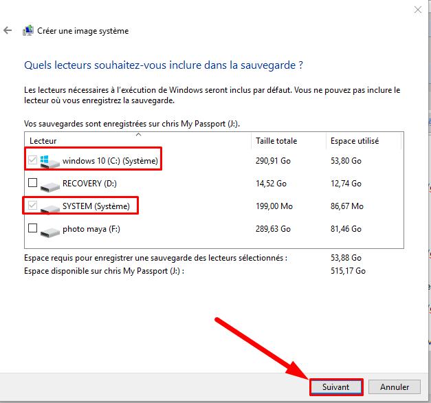 Comment créer une image système Windows 10 sans logiciel Cryy_u17