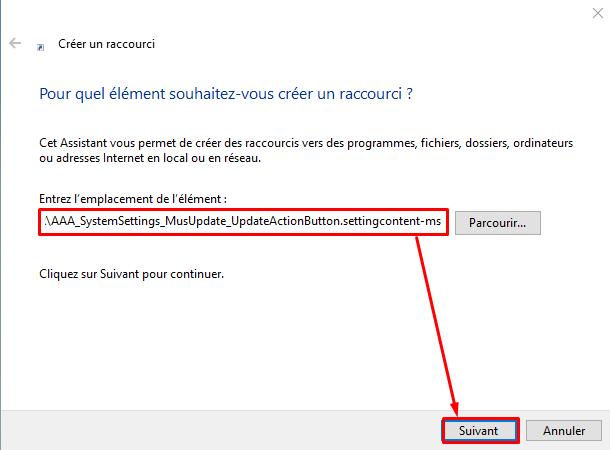 Créé raccourci Windows Update sous Windows 10 Cryy_u26