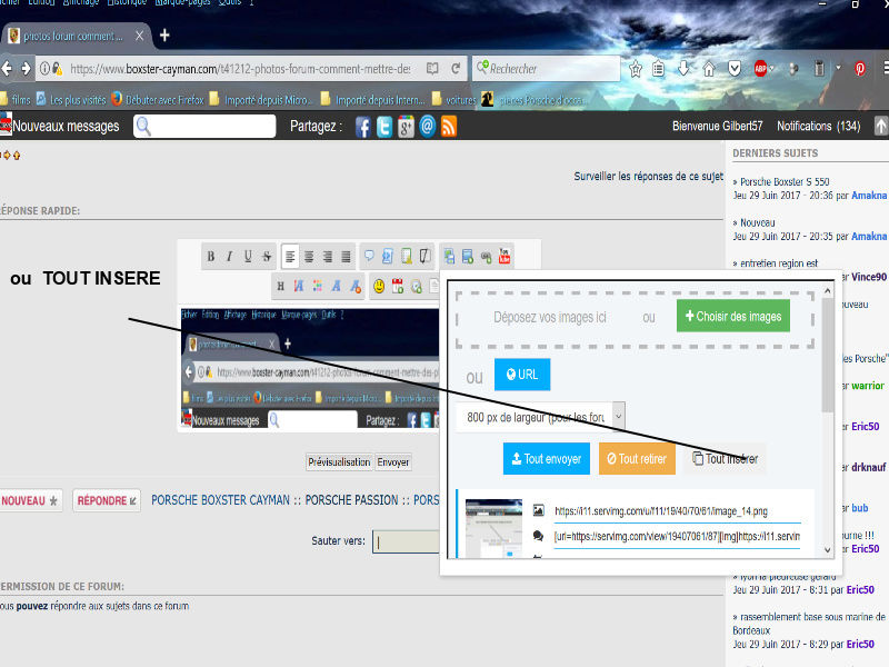 photos forum comment mettre des photos  Image411