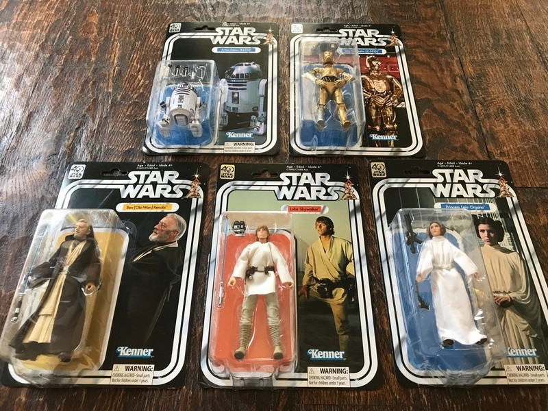 "FS: 40th Anniversary Star Wars 6"" Figures 97da2010"