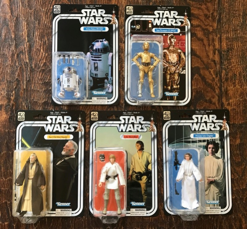 "FS: 40th Anniversary Star Wars 6"" Figures Fb312810"