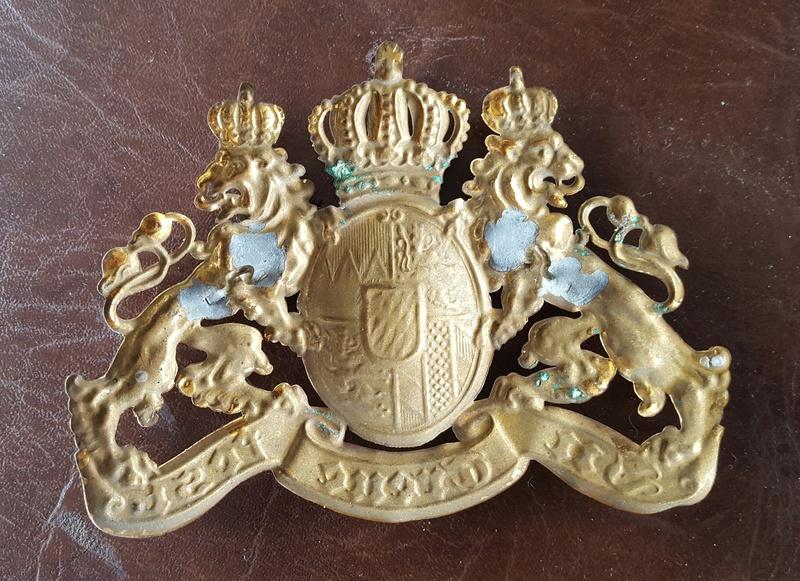 authentifié une plaque de casque a pointe bavarois  20170711