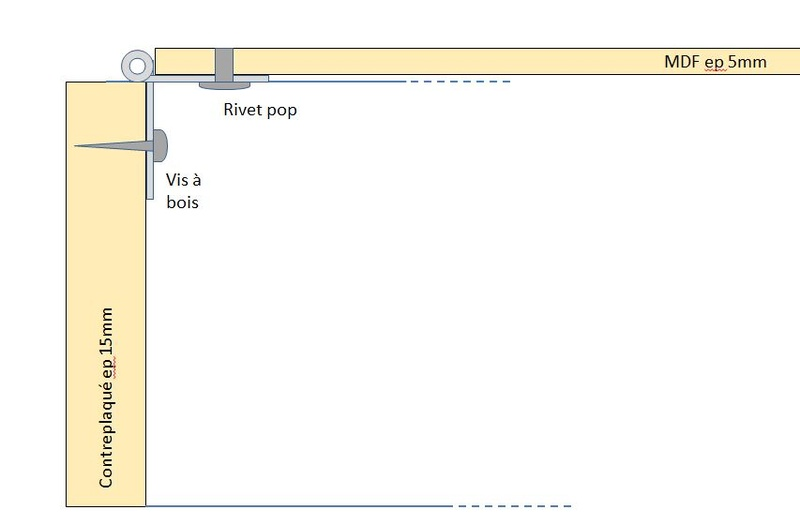 Rangement des câbles : Fabrication d'un double fond de coffre Dytail10