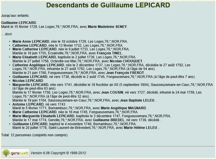 Sausseuzemare LEPICARD ~1741 Desc_l11