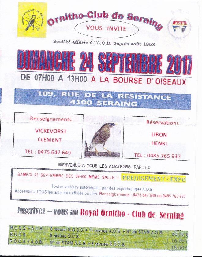Renseignement sur expo Ornitho-Cub de Seraing ? Serain10