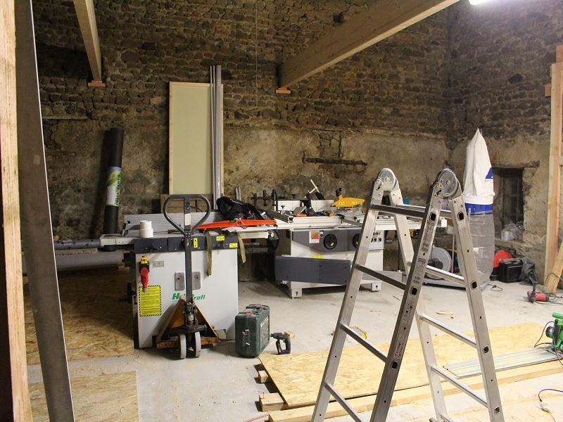 Nouvelle maison, nouveau atelier, nouvelles machines, récap' d'1 an de boulot 3411