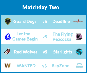 Matchday 2 (Wed 16th Aug) Md211