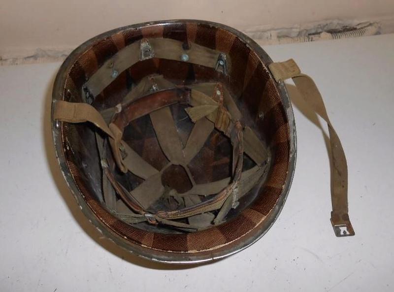 casque US M1 MAC CORD jonc avant pattes  fixes avec liner 2 type westinglou Mc2510