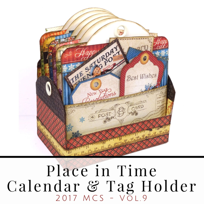 GRAPHIC 45 CALENDAR AND TAG HOLDER - TUTORIAL  G45_ta10