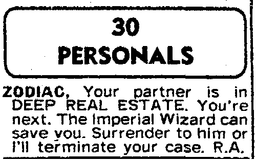 The S.F. Chronicle personal ad August 27, 1976 - Page 2 Sfchro10