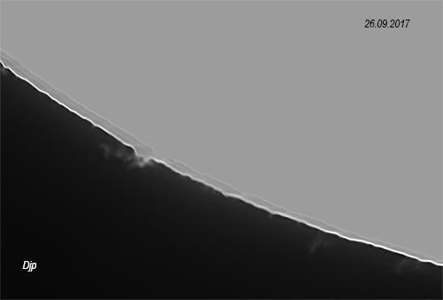 Soleil en lumière blanche, le 25 septembre vers 13hTU 26091712