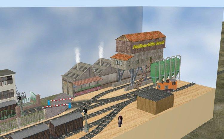 Petit réseau modulaire industriel voie K tranportable Rangie10