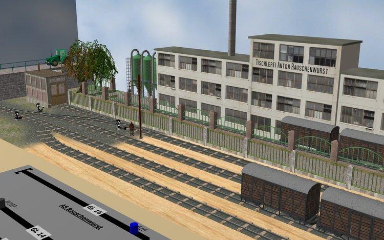 Petit réseau modulaire industriel voie K tranportable Rangie11