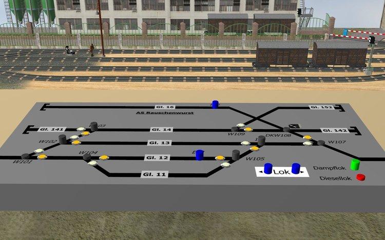 Petit réseau modulaire industriel voie K tranportable Rangie12