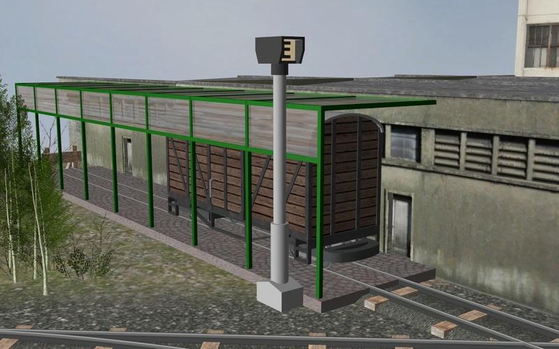 Petit réseau modulaire industriel voie K tranportable Rangie14